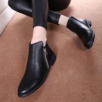 2014 autumn women boots fashionside zipper flat boots martin boots free shipping