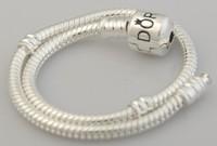 925 sterling silver -plated snake bracelets fit european bead, brand charm bracelet jewelry bracelete for large big hole bead