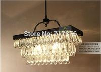 Modern Vintage Crystal Chandelier Ceiling Light