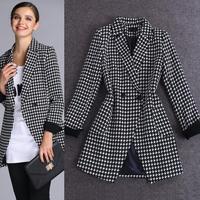 2014 women's printing long windbreaker women coat outerwear trench