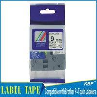 Cheap China 9mm black on white tz label tape tz-221