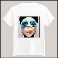 LADY GAGA applause Print Tshirt For Women Men Short Sleeve Unisex Cotton Lady Casual White Shirt Top Tee XXXL Big Size ZY055-27