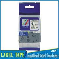 Cheap China 6mm black on white tz label tape tz-211