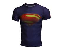 Superman sports straitest male short-sleeve T-shirt ua men's clothing fitness clothing breathable elastic fast drying clothing