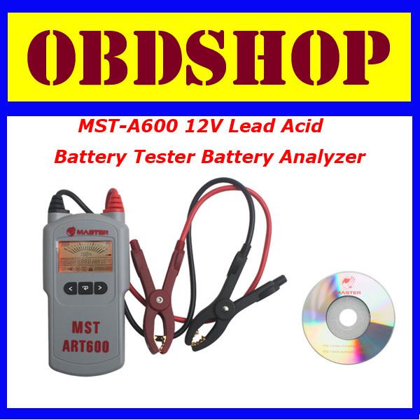 [OBDSHOP] Original Master MST-A600 12V Lead Acid Battery Tester Battery Analyzer MSTA600 Free Shipping(China (Mainland))