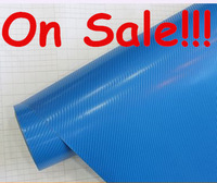 High quality 1.27m*30m Sky Blue high bright 3D Carbon Fiber Vinyl Car Wrapping Foil,Carbon Fiber Car Decoration Sticker