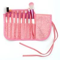 8 Pcs Wood&Nylon white professional cosmetic real techniques Kabuki makeup brushes set with pink bag MA121