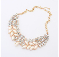 Trading hot Korean jewelry 2014 new products fake collar statement necklace wholesale gorgeous pearl necklace jewelry girlfriend