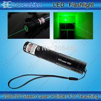 (850) High Power 200mw 532nm JD-850 Laser Pointer Green Light Teaching Laser Pen (1x16340 or 1xCR123A)