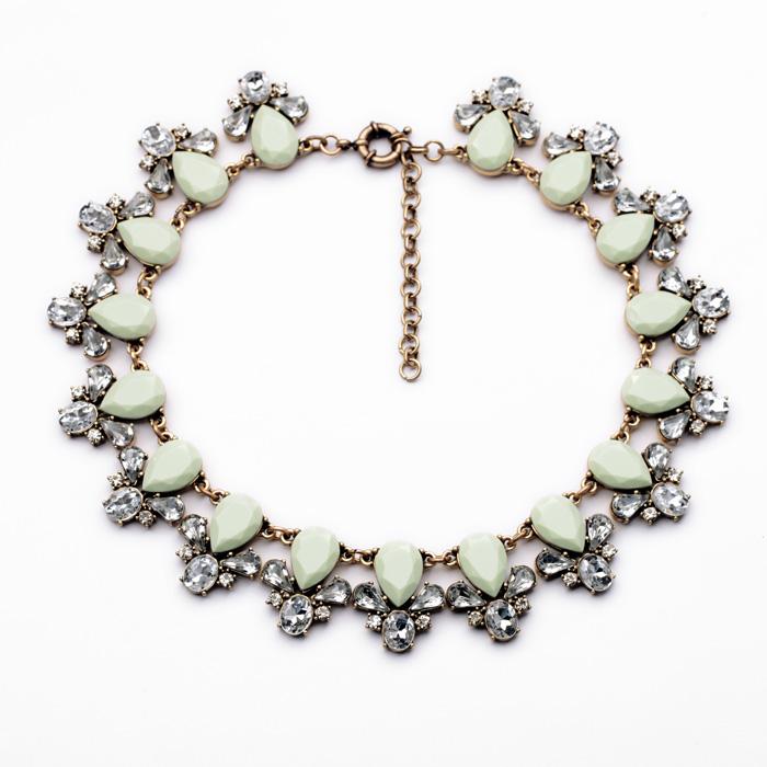 New Design Jewelry Retro Green Pendant Drop Summer Fashion Wild Ladies Necklace Accessories(China (Mainland))