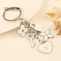 Pendant male women's keychain car key ring 2
