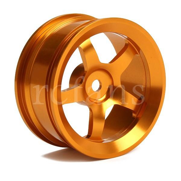 1:10 Flat Car 5 Spoke Titanium Aluminum alloy Wheel Rims 4pcs(China (Mainland))
