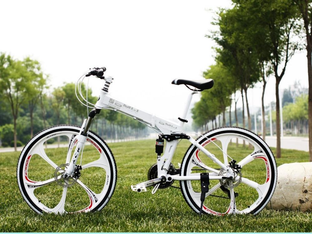 One round of the Disc-Brake mountain bike bicycle magnesium alloy folding bike 21 speed upgrade speed outdoor elliptical bikes(China (Mainland))
