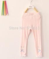 wholesale High quality,2014 New Summer Autumn brand  Korean baby boy girls rabbit hollow leggings,solid bow ruffles leggings