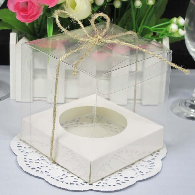 FREE SHIPPING--50PCS 7x7cm Mini Clear Cupcake Boxes,Wedding Cupcake Box, Single Cupcake Box (JCP-268C)(China (Mainland))