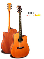Guitar 41 inch Solid top acoustic guitar folk guitar china musical instrument free shipping