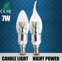 12pcs Led Light Bulbs e14 3w 5w 6w 7w Led Candle Lights 220V Led Bulb Lamp Tubes,Warm/Cool White Led Candle Bulbs Free Shipping