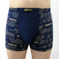 Printed breathable bamboo fiber mens underwear boxer shorts mens underwear cheap wholesale