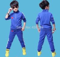 Freeshipping HOT 2014 two-piece autumn new Korean version children suit,boy Sport suit fashion all cotton suit children's wear