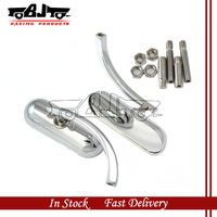 BJ-RM-376 Motorcycle chrome plated All Alloy Rear View Side Mirrors