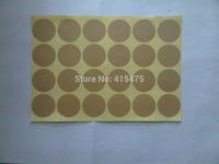120pcs round blank sticker kraft  paper label adhesive labels envelope seals food label bakery cookie stickers printing