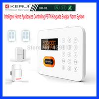 Intelligent Home Alarm Appliances Controlling PSTN Network Keypads Burglar Live/Telephone/SMS Alarm Security System PIR detector