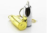 AU106 New 2style bullet shape usb Flash pen drive metal keychain memory stick/thumb/disk 4GB 8GB 16GB 32GB gift