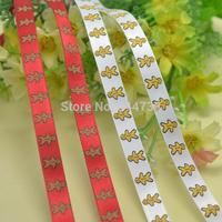 """3/8"""" Amezaiku Candy Ribbon Grosgrain Printed Ribbons for Gift Box Xmas Decoration"""