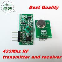Best Quality 1pair/lot 433MHZ Superregeneration Wireless Transmitter Module Burglar Alarm and Receiver Module