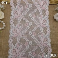 Free shipping! 201408 Limited Quantity, 17.30cm DIY accessories lace pink Stretch lace spot wholesale