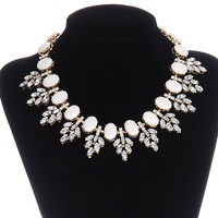 [Mix 15USD] New Brand Party Jewelry Leaves Resin Gem Necklace Trend fashion Collar chocker necklaces for women 2014