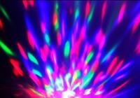 Free Shipping Fashion RGB Magic Ball Bulb Mini Party Light Disco Stage Lighting LED Full Color Rotating Lamp