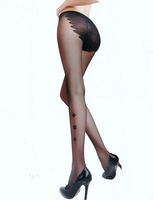 2014 hot Sexy Stockings Summer Thin black Silk Pantyhose Female Bikini flower Jacquard solid color tights freeshipping