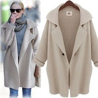 2014 new women fashion outwear European and American style cardigan ladies knitted womans Thick loose sweater