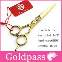 Hair Scissors  Pro Gold 5.5 Inch JP440C hot Cutting Scissor Purple Dragon Hairdresser Shears Clipper Hairdressing  styling tool