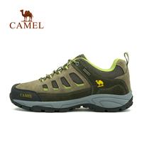 For camel Men low suede walking shoes shock absorption outdoor shoesA432026095