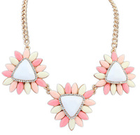 Euramerican Fashion Alloy Statement Necklace Fresh & Shinning Candy Color In Pendant Neckalces