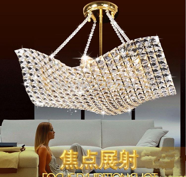 Parachute design Crystal pendant lamp,4 heads fashion modern pendant lights dining room K9 quality crystal E14 lighting(China (Mainland))