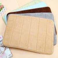 Slow rebound memory foam mats waste-absorbing slip-resistant bath mat coral fleece mat doormat carpet 2