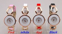 500pcs/lot Hot sales,Freeshipping new arrival fashion design wrist watches women,with pu leather band,precise quartz movement
