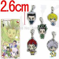 50sets Hot Sales Anime Hunter X Hunter Metal Figure Keychains Bag Pendants 5pcs/set