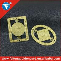 Elegant High-end Metal Hanging Handbag Label Cut Out Hot Sale Logo Metal Handbag Tag with Holes