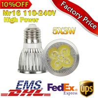 4pcs/lot Crazy Promotion 5X3W Bulb led bulb E27 DC 110-240V led Light led lamp spotlight free shipping