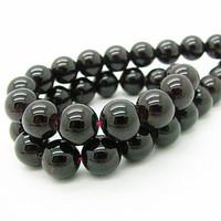 Natural Stone Beads 6mm 8mm 10mm Rondelle Quartz Dlack Garnet Tourmaline Semi Precious Spacer Bead Men Jewelry Bracelet HA585