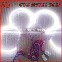 SUPER BRIGHT 4 PCS COB LED ANGEL EYES HALO RINGS KIT FOR BMW E36 E38 E39 E46 HEADLIGHTS WHITE