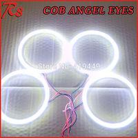 Super Bright COB LED Angel Eyes Rings Kit For BMW E30 E32 E34 LED Angel Eye Bulbs WHITE 4 RINGS