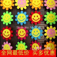 whole sale,Cartoon decoration hangings supplies sticker double faced smiley charm,felt decoration