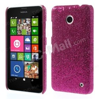 Free shipping 1pc/tvc-mall For Nokia Lumia 635 630 Glittery Sequins Leather Skin Hard Case