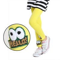 2014 new children's clothing autumn fall cotton grils cartoon leggings pencil pants trousers 6-14