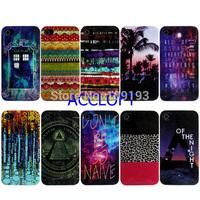 2014 new arrival Lepoard Tree Flower Stars Patterns cases for  iphone 4 4g 4S  cover transparent soft PTU case 1pcs/lot